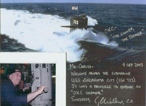 souvenir photo of visit to SSN-723