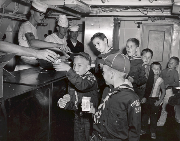 Cub Scout treats / open house Long Beach CLG-5, 1961 (Photo by Nelson Archey PH1)