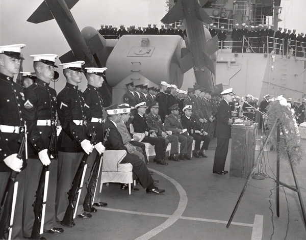 Army, Air Force and Veterans aboard for ceremony in late '62 or early '63