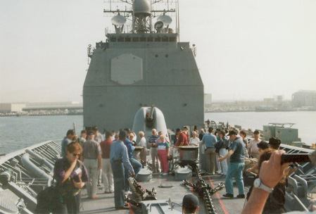 Aboard the USS Port Royal CG-73