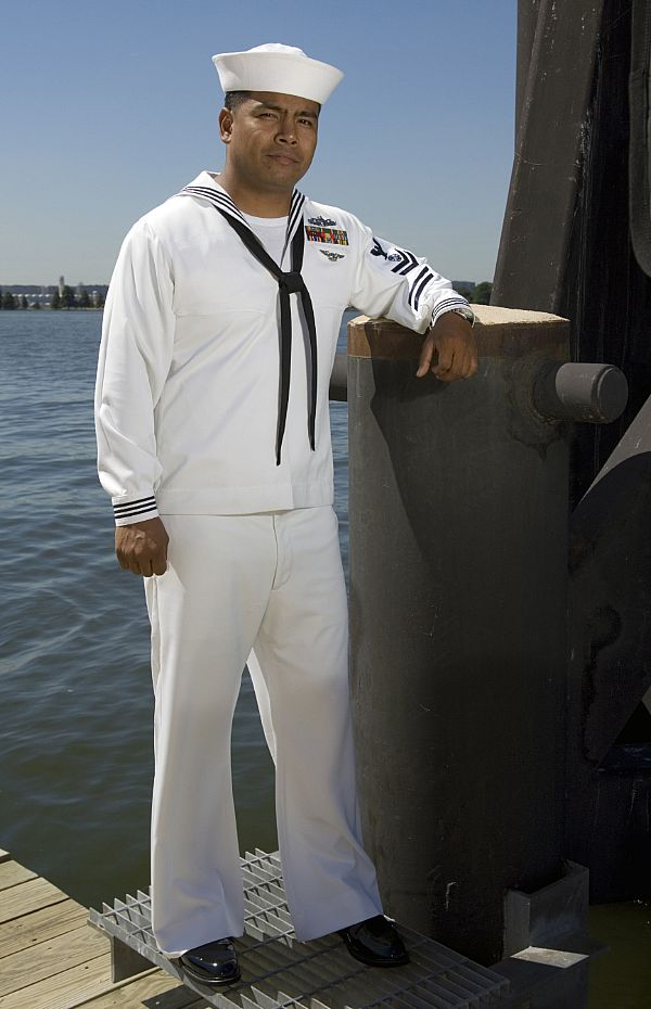 USS Oklahoma City - The Navy's New Dress Whites