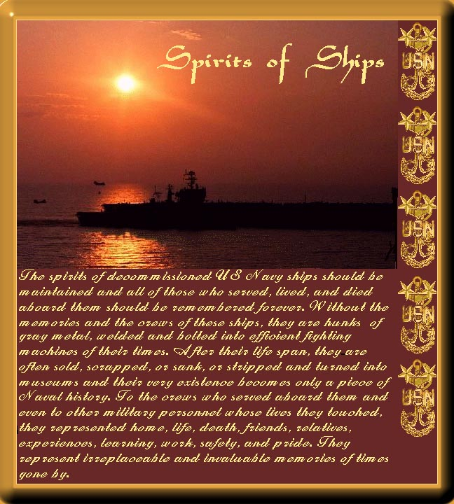 Spirit of Ship's Plaque