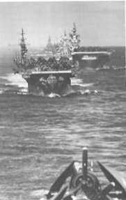 Carriers and Battleships in dog formation, Western Pacific