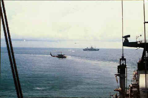 Evacuation Operations in Viet Nam with USS Blue Ridge